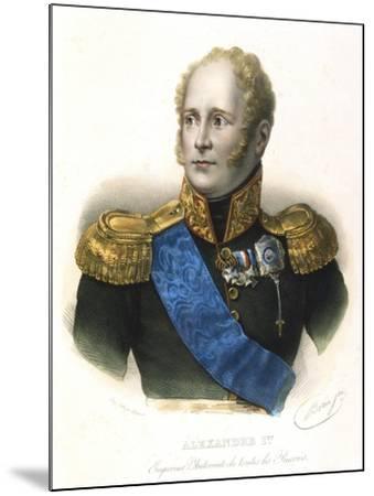 Alexander I, Tsar of Russia, C1801-1825--Mounted Giclee Print