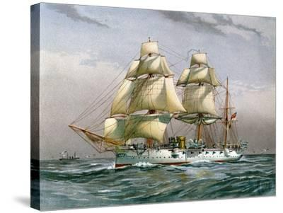 HMS Calliope, Royal Navy 3rd Class Cruiser, C1890-C1893--Stretched Canvas Print