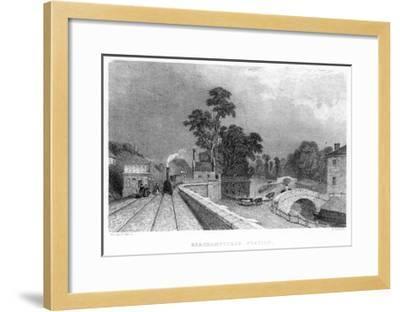 Berkhamsted Station, Hertfordshire, on the London and Birmingham Railway, C1860--Framed Giclee Print