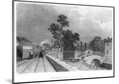 Berkhamsted Station, Hertfordshire, on the London and Birmingham Railway, C1860--Mounted Giclee Print