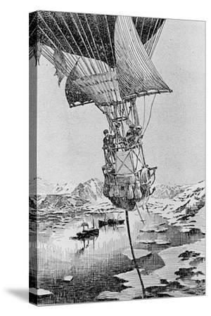 Departure of the Andree Balloon Expedition to the North Pole, Spitzbergen, 1897--Stretched Canvas Print