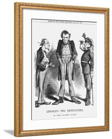 Lincoln's Two Difficulties, 1862--Framed Giclee Print