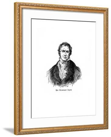 Sir Humphry Davy, Cornish Chemist and Physicist--Framed Giclee Print