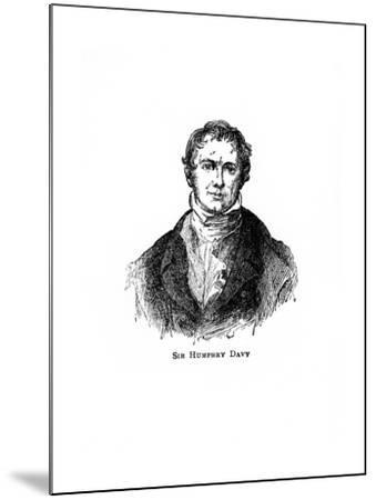 Sir Humphry Davy, Cornish Chemist and Physicist--Mounted Giclee Print