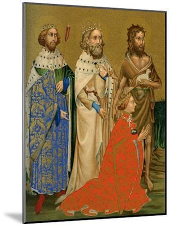 King Richard II of England and His Patron Saints, 14th Century--Mounted Giclee Print