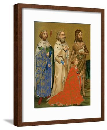 King Richard II of England and His Patron Saints, 14th Century--Framed Giclee Print