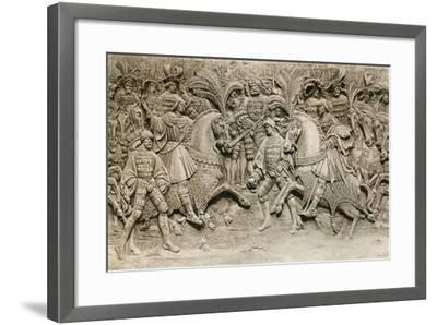Meeting of Henry VIII and Francis I, at the Field of Cloth of Gold, 1520--Framed Giclee Print