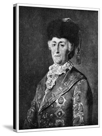 Catherine the Great, Empress of Russia, 1787-Mikhail Shibanov-Stretched Canvas Print