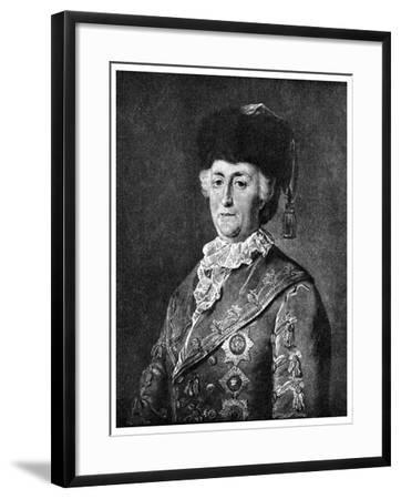 Catherine the Great, Empress of Russia, 1787-Mikhail Shibanov-Framed Giclee Print