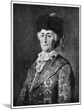 Catherine the Great, Empress of Russia, 1787-Mikhail Shibanov-Mounted Giclee Print