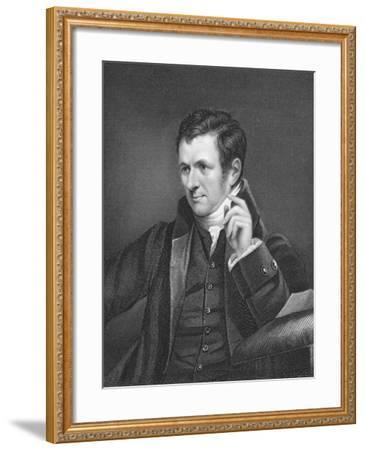 Humphry Davy, British Chemist, 19th Century-James Lonsdale-Framed Giclee Print