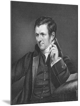 Humphry Davy, British Chemist, 19th Century-James Lonsdale-Mounted Giclee Print