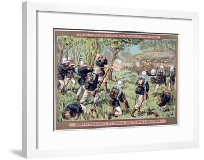 An Engagement Against the Hovas of Madagascar, 1883-1896--Framed Giclee Print