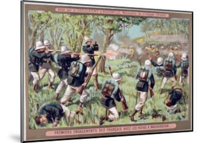 An Engagement Against the Hovas of Madagascar, 1883-1896--Mounted Giclee Print