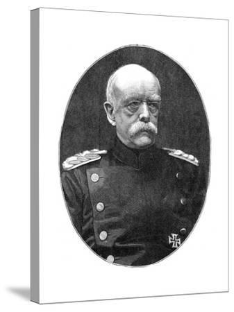 Otto Von Bismark, 19th Century German Statesman- Loescher and Petsch-Stretched Canvas Print