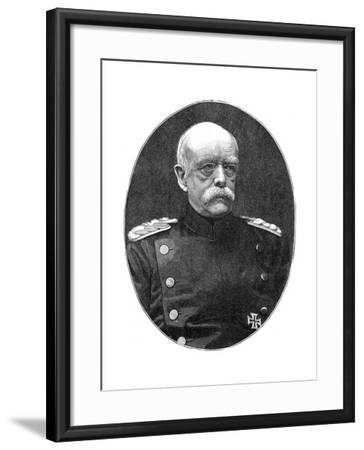 Otto Von Bismark, 19th Century German Statesman- Loescher and Petsch-Framed Giclee Print