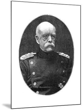 Otto Von Bismark, 19th Century German Statesman- Loescher and Petsch-Mounted Giclee Print