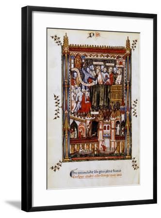 The Arrest of St Denis, 1317--Framed Giclee Print