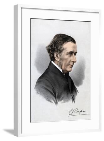 Reverend Charles John Vaughan, Harrow Headmaster and Dean of Llandaff, 19th Century--Framed Giclee Print