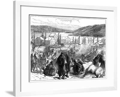 General Bourbaki's Defeated French Army in Switzerland, February 1871--Framed Giclee Print