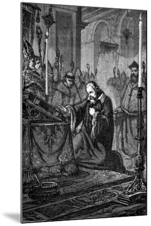 Galileo Galilei, Italian Astronomer and Mathematician Recanting, 1633--Mounted Giclee Print