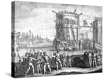 Siege of Damietta, Egypt, 13th Century--Stretched Canvas Print