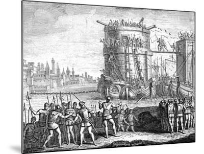 Siege of Damietta, Egypt, 13th Century--Mounted Giclee Print