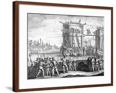 Siege of Damietta, Egypt, 13th Century--Framed Giclee Print