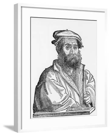 Niccolo Tartaglia, Italian Mathematician and Mechanician, 1550s--Framed Giclee Print