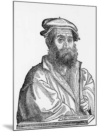 Niccolo Tartaglia, Italian Mathematician and Mechanician, 1550s--Mounted Giclee Print