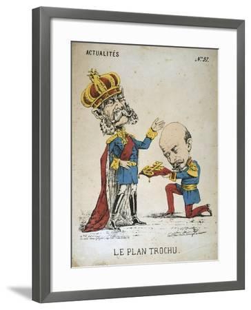 Le Plan Trochu, 1870-1871--Framed Giclee Print