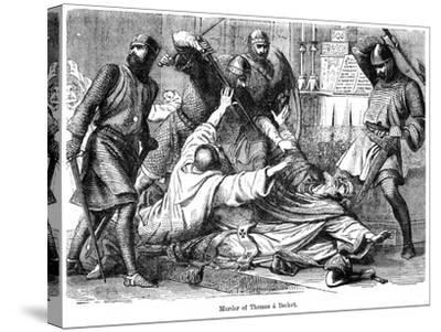 Murder of Thomas a Becket, 1170--Stretched Canvas Print
