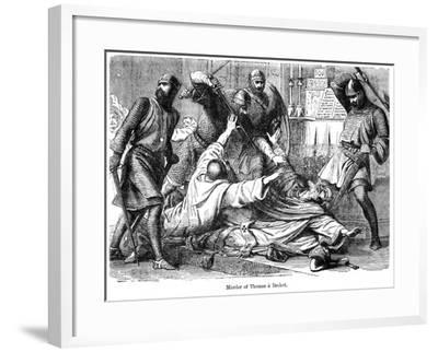 Murder of Thomas a Becket, 1170--Framed Giclee Print