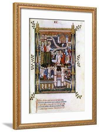 St Denis Preaching, 1317--Framed Giclee Print