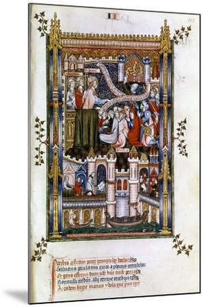 St Denis Preaching, 1317--Mounted Giclee Print