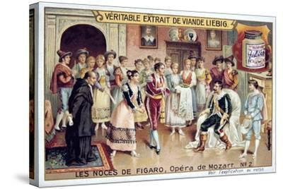 Scene from Mozart's Opera the Marriage of Figaro, 1786--Stretched Canvas Print