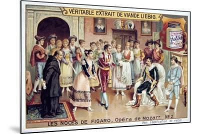 Scene from Mozart's Opera the Marriage of Figaro, 1786--Mounted Giclee Print