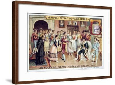 Scene from Mozart's Opera the Marriage of Figaro, 1786--Framed Giclee Print