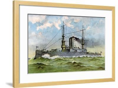 Uss 'Alabama, American Battleship, 1898--Framed Giclee Print
