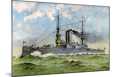 Uss 'Alabama, American Battleship, 1898--Mounted Giclee Print