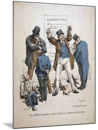 Caricature of the Proprietors, Paris Commune, 1871--Mounted Giclee Print