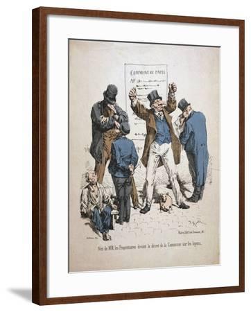 Caricature of the Proprietors, Paris Commune, 1871--Framed Giclee Print