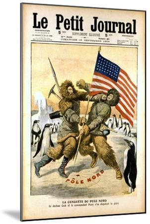 Dispute over Who Was the First to Reach the North Pole, 1909--Mounted Giclee Print