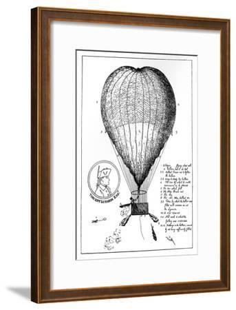 The Enterprizing Lunardi's Grand Air Ballon, 1784--Framed Giclee Print