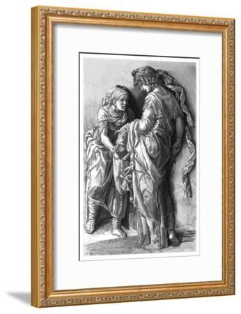 Judith and Holofernes, 1870-Adrien Marie-Framed Giclee Print