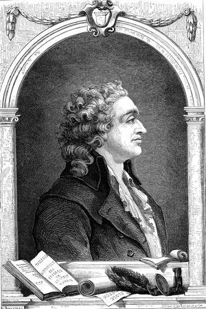 Marquis De Condorcet (1743-179), French Enlightenment Philosopher and Sociologist, 1874--Framed Giclee Print