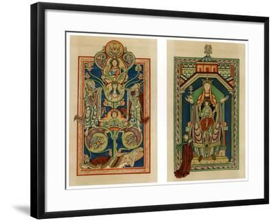 Tree of Jesse and Virgin and Child Enthroned, C1130-1140--Framed Giclee Print