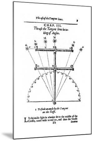 Method of Measuring Angles with a Cross-Staff, 1636--Mounted Giclee Print