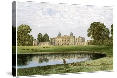 Badminton House, Gloucestershire, Home of the Duke of Beaufort, C1880-AF Lydon-Stretched Canvas Print