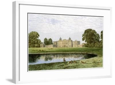 Badminton House, Gloucestershire, Home of the Duke of Beaufort, C1880-AF Lydon-Framed Giclee Print